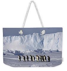 Emperor Penguins Walking Antarctica Weekender Tote Bag by Frederique Olivier