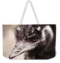 Emu Closeup Weekender Tote Bag by Karol Livote