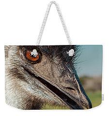 Emu Closeup  Weekender Tote Bag by Robert Frederick