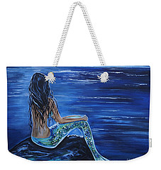 Enchanting Mermaid Weekender Tote Bag by Leslie Allen