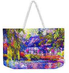 English Cottage Weekender Tote Bag by Jane Small