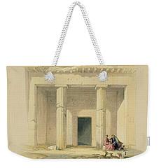 Entrance To The Caves Of Bani Hasan Weekender Tote Bag by David Roberts