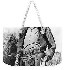 Ernest Hemingway Fishing Weekender Tote Bag by Underwood Archives