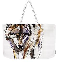 European Wolf Weekender Tote Bag by Mark Adlington