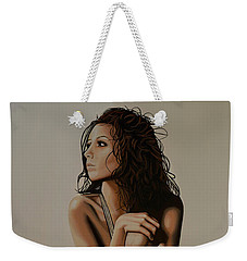 Eva Longoria Painting Weekender Tote Bag by Paul Meijering