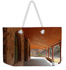 Weekender Tote Bag featuring the photograph Evans Porch by Bill Gabbert