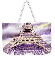 Evening In Paris A Walk To The Eiffel Tower Weekender Tote Bag by Irina Sztukowski