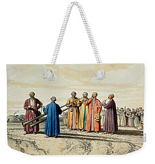 Evening Prayer Among The Kalmuks, Using Weekender Tote Bag by Francois Fortune Antoine Ferogio
