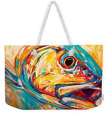 Expressionist Redfish Weekender Tote Bag by Savlen Art