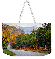 Fall On Fox Hollow Road Weekender Tote Bag by Cricket Hackmann
