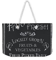 Farm Fresh Sign Weekender Tote Bag by Debbie DeWitt