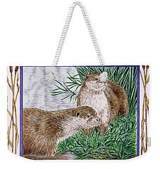 February Wc On Paper Weekender Tote Bag by Catherine Bradbury