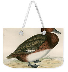 Ferruginous Duck Weekender Tote Bag by Beverley R Morris