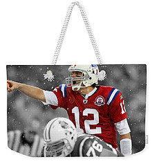 Field General Tom Brady  Weekender Tote Bag by Brian Reaves