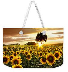Fields Of Gold Weekender Tote Bag by Debra and Dave Vanderlaan