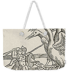 Fight Between Pygmies And Cranes. A Story From Greek Mythology Weekender Tote Bag by English School
