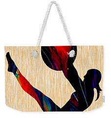 Fitness Ball Weekender Tote Bag by Marvin Blaine
