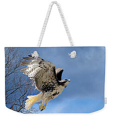 Flight Of The Red Tail Weekender Tote Bag by Bill Wakeley