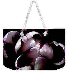 Floral Symmetry Weekender Tote Bag by Rona Black