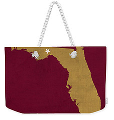 Florida State University Seminoles Tallahassee Florida Town State Map Poster Series No 039 Weekender Tote Bag by Design Turnpike