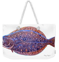 Flounder Weekender Tote Bag by Carey Chen
