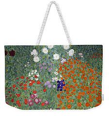 Flower Garden Weekender Tote Bag by Gustav Klimt