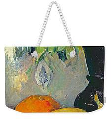 Flowers And Fruits Weekender Tote Bag by Paul Cezanne