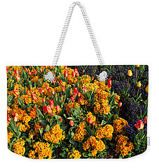 Flowers In Hyde Park, City Weekender Tote Bag by Panoramic Images