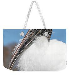 Fluffy Wood Stork Weekender Tote Bag by Carol Groenen