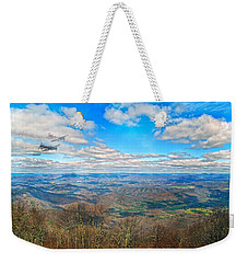 Flying The Sky Blue Ridge Parkway Weekender Tote Bag by Betsy Knapp