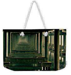 Foggy Morning Under Bridge Weekender Tote Bag by Robert Frederick