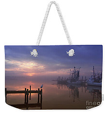 Foggy Sunset Over Swansboro Weekender Tote Bag by Benanne Stiens