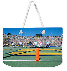Football Game, University Of Michigan Weekender Tote Bag by Panoramic Images