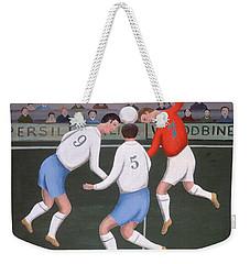 Football Weekender Tote Bag by Jerzy Marek