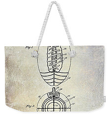 1925 Football Patent Drawing Weekender Tote Bag by Jon Neidert
