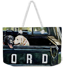 For Our Retriever Dogs Weekender Tote Bag by Molly Poole