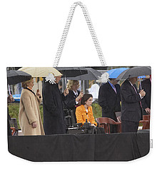 Former Us President Bill Clinton Weekender Tote Bag by Panoramic Images