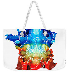France - European Map By Sharon Cummings Weekender Tote Bag by Sharon Cummings