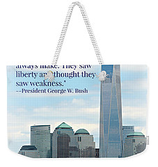 Freedom On The Rise Weekender Tote Bag by Stephen Stookey