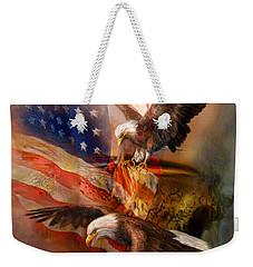 Freedom Ridge Weekender Tote Bag by Carol Cavalaris