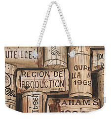 French Corks Weekender Tote Bag by Debbie DeWitt
