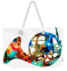 French Horn - Colorful Music By Sharon Cummings Weekender Tote Bag by Sharon Cummings