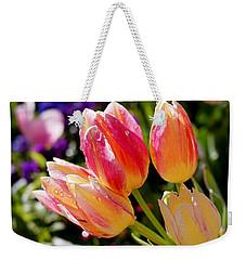 Fresh Tulips Weekender Tote Bag by Rona Black