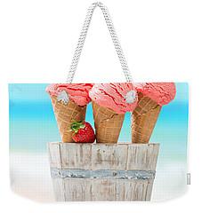Fruit Ice Cream Weekender Tote Bag by Amanda Elwell