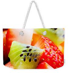 Fruit Salad Macro Weekender Tote Bag by Johan Swanepoel