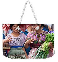 Fruit Sellers In Antigua Guatemala Weekender Tote Bag by David Smith