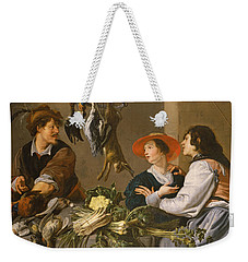 Game And Vegetable Sellers Oil On Canvas Weekender Tote Bag by Theodor Rombouts