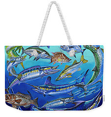 Gamefish Collage In0031 Weekender Tote Bag by Carey Chen