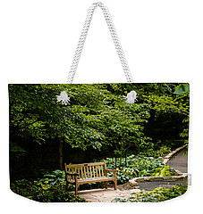 Garden Bench Weekender Tote Bag by Joe Mamer