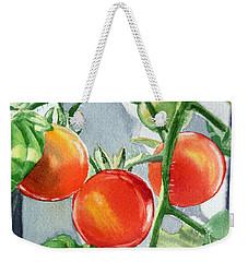 Garden Cherry Tomatoes  Weekender Tote Bag by Irina Sztukowski